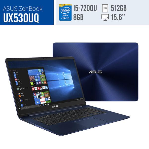 福利品ASUS/UX530UQ皇家藍/15.6吋LED/i5/8G*1/512GSSD/NV940MX 2G