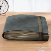 復古軟皮面筆記本子商務會議工作記錄A5羊巴皮配鬆緊帶加厚超厚高顏值定制