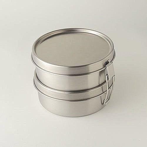 工房AIZAWA* 不銹鋼便當盒 丸型兩段環扣款 (400ml×2)