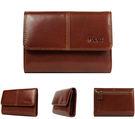 【橘子包包館】FOCUS 富可仕 質感原皮 真皮 4卡相片零錢袋 扣式中夾 FTC2372 咖啡