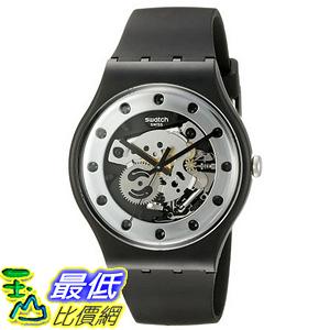 [美國直購] Swatch Unisex SUOZ147 Silver Glam Analog Display Quartz Black Watch 手錶