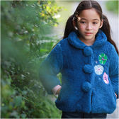女童 氣質 花朵刺繡 厚棉 保暖外套 厚外套 兒童外套 寶寶外套 超厚 防寒 外套 Augelute 50426