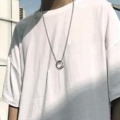 項鏈韓版男女鈦鋼吊墜簡約掛件裝飾品配飾【聚寶屋】