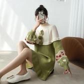 秋冬新款高領加厚拜年裙毛衣裙甜美針織連身裙女打底寬鬆外穿 韓國時尚週
