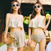 新款泳衣女三件套韓國溫泉小香風比基尼少女