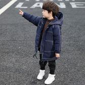 童裝男童冬裝棉服外套2019洋氣兒童中長款羽絨棉衣韓版棉襖潮
