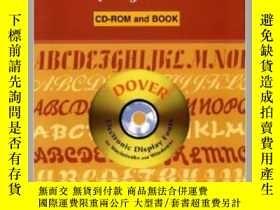 二手書博民逛書店24罕見Bold Script Display Fonts CD