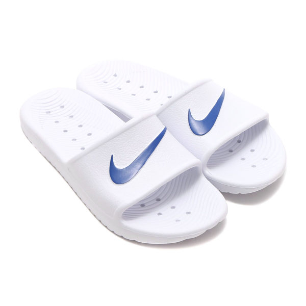 *Nike Kawa Shower Slide White 防水 拖鞋 白藍 832528-100