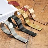 手錶帶代用dw男女米蘭精鋼不銹鋼帶超薄新款金屬網帶手鍊精鋼配件 格蘭小舖