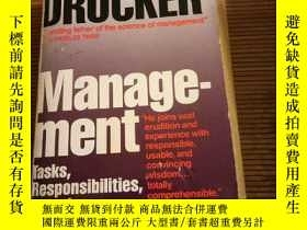 二手書博民逛書店Management:罕見Tasks Responsibilities Practices (Harper & R