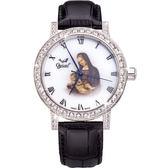 Ogival 瑞士愛其華文藝復興系列琺瑯機械腕錶-康納斯聖母
