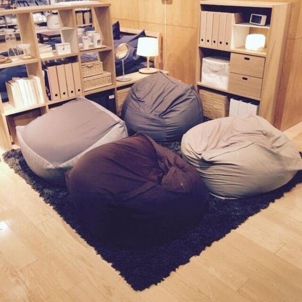 豆袋沙發良品全棉舒適布藝懶人沙發單人創意臥室懶人椅豆包榻榻米WY  ATF青木鋪子