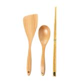 HOLA 不沾鍋專用木質三件組-長筷款