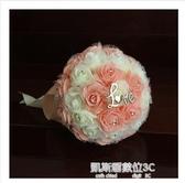 結婚手捧花婚慶韓式新娘仿真手捧花中式伴娘歐式森繫用品婚禮花束(快速出貨)