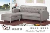 【大漢家具】L型柔韌皮灰色沙發組 001918-320-6