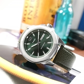 TIMEX 天美時 / TXTW2U82000 / 經典系列 八角型 星期日期 礦石強化玻璃 壓紋真皮手錶 橄欖綠色 46mm