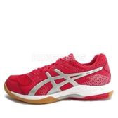 Asics GEL-Rocket 8 [B706Y-2393] 男 鞋 運動 排球 羽球 桌球  紅  銀