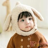 嬰兒帽子秋冬季嬰幼兒男護耳兒童帽子圍巾壹體【聚可愛】