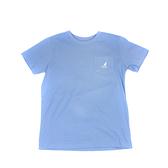 KANGOL 童裝 短袖T恤 淺藍色 口袋袋鼠LOGO/背後字母 6126500381 noG40
