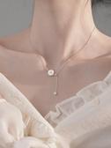 銀春春925純銀貝殼雛菊項鏈鎖骨鏈女潮輕奢網紅小眾設計ins冷淡風