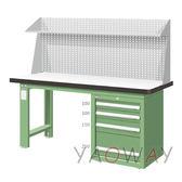 【耀偉】天鋼 單櫃上架組(耐磨)工作桌WAS-57042F3 (工作台,工業桌,機台桌)