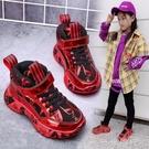 女童鞋子2020秋冬季新款高幫靴子皮面防水兒童中大童女孩運動鞋潮 一米陽光