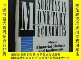 二手書博民逛書店Surveys罕見in Monetary Economics (