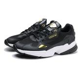 ADIDAS 休閒鞋 ORIGINALS FALCON 黑金 皮革 網布 老爹鞋 女 (布魯克林) EF4988