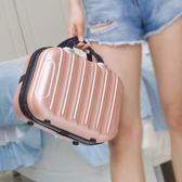 85折時尚手提化妝箱14寸箱包行李箱旅行箱子99購物節