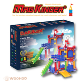 韓國 MagKinder x Click Block 科學磁力棒 童趣城堡 66件組