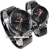 Wilon 情人對錶 簡約城市風格 數字時刻時尚 造型錶 防水手錶 IP黑電鍍x玫瑰金 W937玫黑大+W937玫黑小