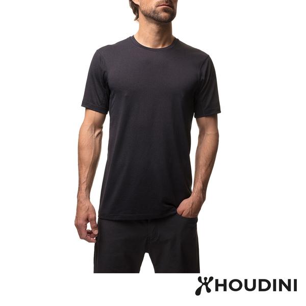 瑞典 Houdini Dynamic Tee 舒適快乾短袖 男款 岩石黑 #257524