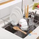 瀝水架瀝碗架廚房家用洗碗池瀝水架304不...