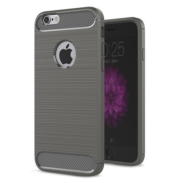 iPhone 5/5s/SE 戰神碳纖保護套 軟殼 金屬髮絲紋 軟硬組合 防摔全包款 矽膠套 手機套 手機殼