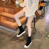 長靴 馬丁靴女英倫風2019秋冬新款厚底高筒靴百搭彈力靴網紅瘦靴短靴