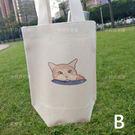 大頭橘貓環保飲料吸水杯套 台灣製棉麻布 ...