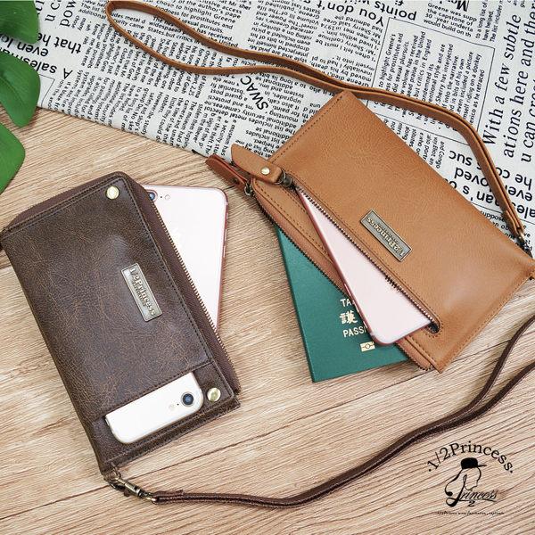 1/2princess二代復古耐磨皮革善變年代3WAY多功能長皮夾手拿包手機包[A0036]