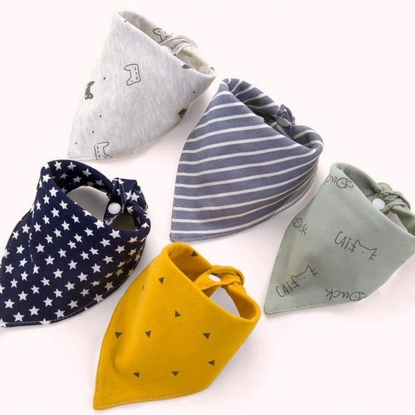 5條裝 嬰兒口水巾純棉寶寶圍嘴防水圍兜男女【奇趣小屋】