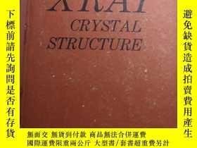 二手書博民逛書店X-RAY罕見CRYSTAL STRUCTURE X射線晶體結構