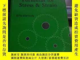 二手書博民逛書店ROARK S罕見FORMULAS FOR STRESS & R