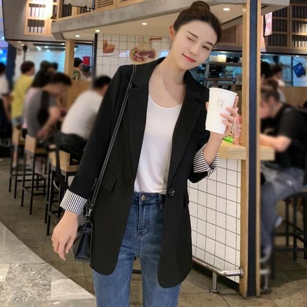 Chic小西裝女黑色秋季新款韓版休閒時髦網紅西服上衣春秋外套