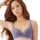 思薇爾-輕沁舒系列B-F罩蕾絲軟鋼圈內衣(蒼鷺紫)
