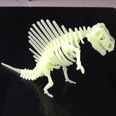 DIY 恐龍立體拼圖 星貼 螢光 夜光牆貼 兒童房臥室天花板─預購CH838