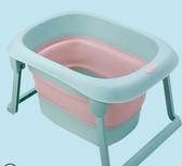 折疊浴桶兒童泡澡桶折疊浴盆寶寶游泳桶大號浴桶家用新生嬰兒洗澡盆可坐躺YYP 蜜拉貝爾