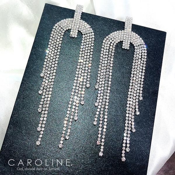 《Caroline》★韓國熱賣造型時尚  Bling  Bling  耳環71116