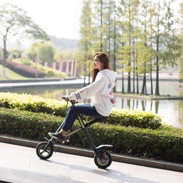 jimovet積木微電車鋰電池電動滑板車成人折疊迷你電動自行車MKS免運