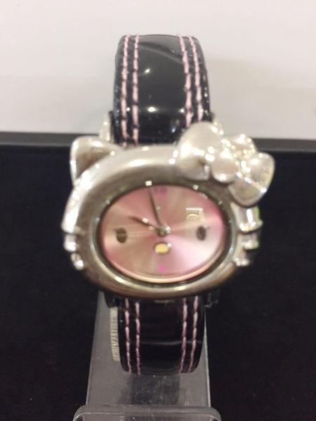 【震撼精品百貨】Hello Kitty 凱蒂貓-手錶-造型錶面-黑色錶帶【共1款】
