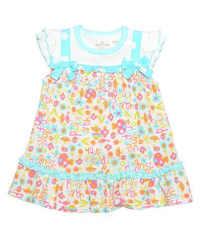 Hallmark Babies 有機棉短袖連衣裙 HC1-B07-04-BG-ME