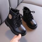 兒童靴子 兒童馬丁靴英倫風女童靴子春季寶寶加絨棉靴中小童皮靴男童【快速出貨八折下殺】