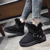 雪地靴女冬季加絨加厚保暖新款學生韓版百搭時尚一腳蹬棉鞋女 完美居家生活館